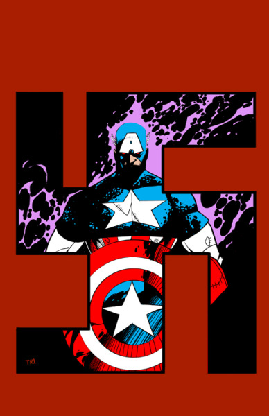streammonster:  Captain America by ~Realmofdeadsouls  this is a great image.