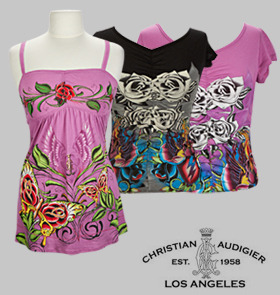 Go over HERE to score one of these Christian Audigier Printed tops for just $26. These retail for $165. Hurry! These will go fast!!!