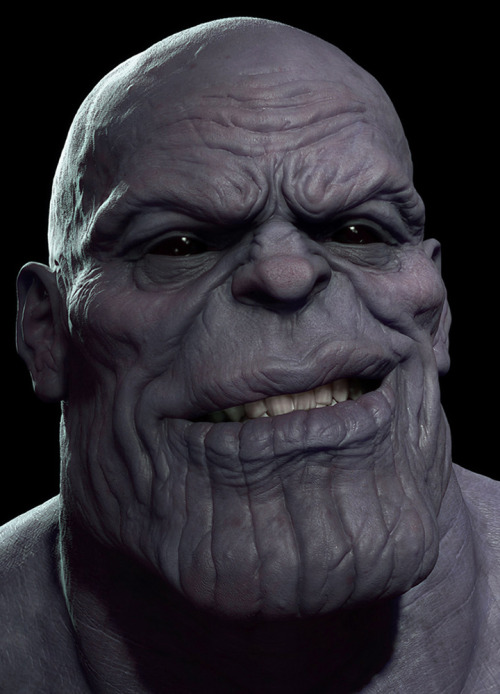 justinrampage:  As an update to his previous 3D rendering of Thanos, artist Rodrigue Pralier took Marvel's villain to a whole new level of bad ass. Related Rampage: Thanos Thanos…again by Rodrigue Pralier (Blog) (CGHUB)    Mutherfucking Clancy Brown! (you all better know who Clancy Brown is!)