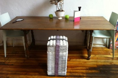 Make your own chic egg carton stool! Via: Inhabitat.