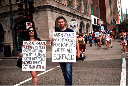 "subconciousevolution:  ""The Real Reason For Rape is More Revealing than my Outfit: A Justice System that Tells Rapists They'll Get Away with it!? ""When Police make Excuses for Rapists, We're All Screwed."""
