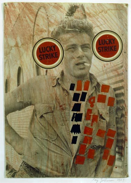 """James Dean (Lucky Strike),"" 1957, Ray Johnson"