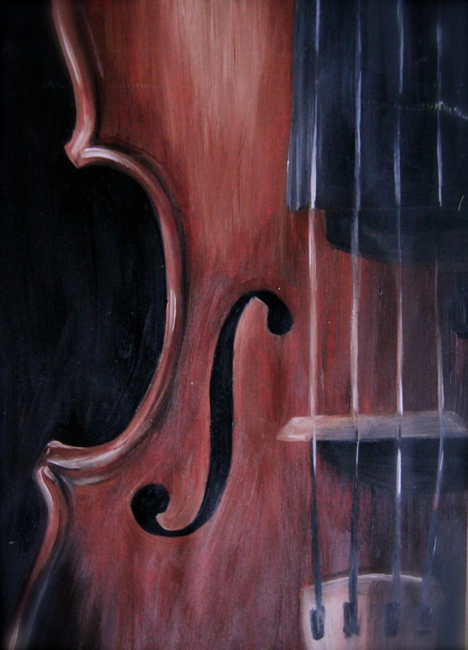 Oil painting of a violin. Not that i play the violin.