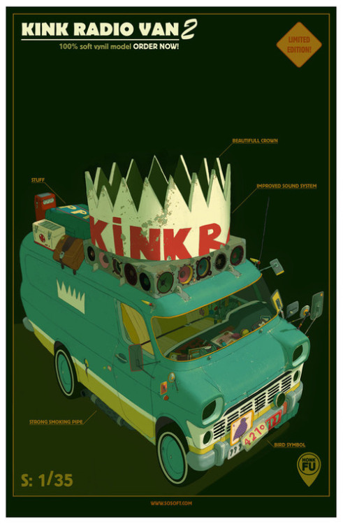 LCC: Kink Radio Van 2 by HonkFu. Love the style. Makes me wanna watch a cartoon version of this. (via Behance Network)