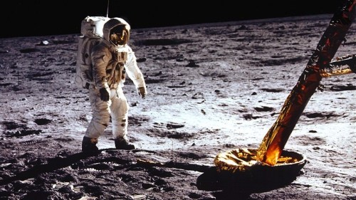 "npr:    I was 10 years old on July 20, 1969, the day Neil Armstrong set foot on the moon and solemnly said: ""One small step for man, one giant leap for mankind."" (Here is a transcript of the Apollo 11 Lunar Surface Journal, with commentary.) The words were supposed to mark the beginning of a new era of exploration as we extended our presence beyond the confines of our home planet, not unlike what had happened here on Earth a few centuries earlier as we began to travel more freely and fully explore our own planet. Fast forward to 2011. Much has changed. We don't have a lunar base and, in fact, haven't stepped back on the Moon in almost 40 years. Manned space flight is prohibitively expensive and, of course, risky. There are also serious technological challenges. However, President Obama believes we should keep on sending humans to space. Should we? Commentator Marcelo Gleiser answers that question in his latest post to the NPR blog 13.7: Cosmos And Culture."