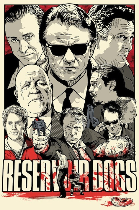 laughingsquid:  Reservoir Dogs by Joshua Budich
