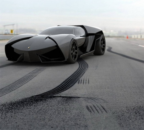 This would be an epic BatMobile… Lamborghini Ankonian Concept (via Fubiz™)