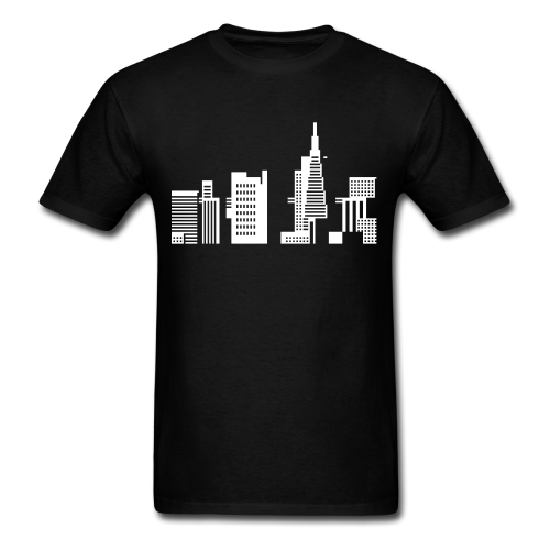 Cityscape 44 | maxcapacity New shirt in my spreadshirt shop. It's not actually new, it used to be in the AM shop. Now it's in mine. It's San Francisco, see?