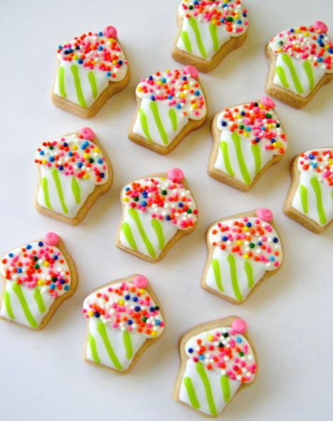 Mini cupcake sugar cookies! Buy them at acookiejar