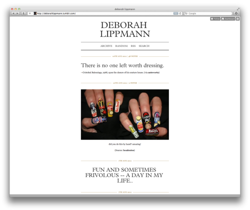 richtong:  deborah lippmann is now on tumblr!!