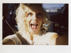 davidmillerphotoworks:  Bridget Blonde, polaroid, about a year ago.