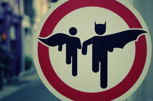 Caution: Batman and Robin running!