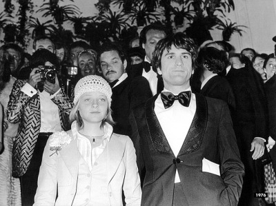 Jodie Foster and Robert De Niro on the red carpet at the 29th Cannes Film Festival for Martin Scorsese's, Taxi Driver, which won the prestigious Palme d'Or that year (1976)