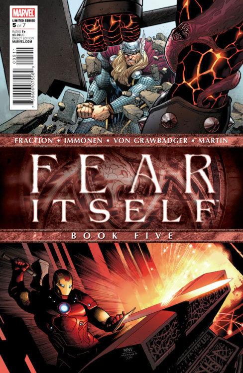 Fear Itself #5, October 2011, written by Matt Fraction, penciled by Stuart Immonen