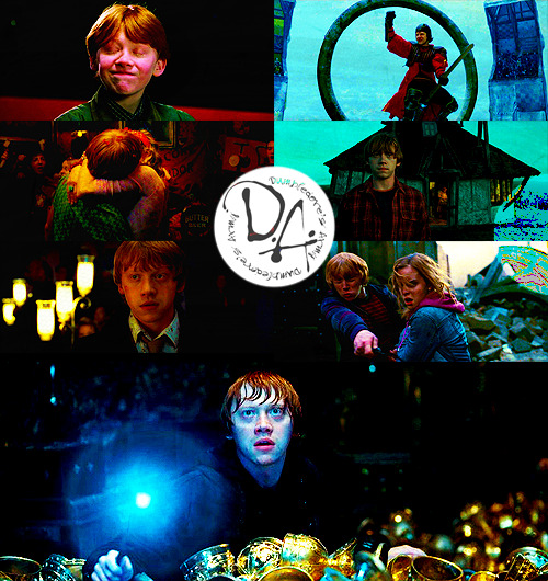 Top 20 Harry Potter Characters | Ronald Weasley - (played by Rupert Grint)  I used to dislike Ron. I don't even know why, but re-reading the series really made me love him. He is the person that kept the Golden Trio together all those years. When he's gone in Deathly Hallows, Hermione and Harry become sort of lifeless, shells of what they used to be. Without Ron, and the hunt for horcrux looming over them, I think they'd have fallen apart. He provides the greatest comic relief, but he's a deep character too. His love for Hermione throughout the series is amazing and so touching and his love and care for his family is beautiful. Rupert Grint is amazing in the role, and severely underrated.