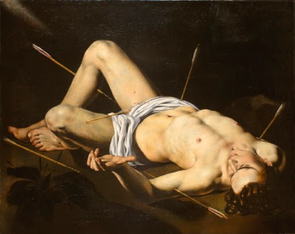 antonio-m:  School of Nicolas Regnier, Saint Sebastian, 17th century