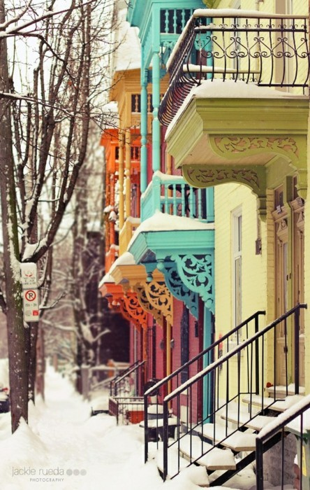 Winter in the city. So pretty. -Kathy  Via: archsy