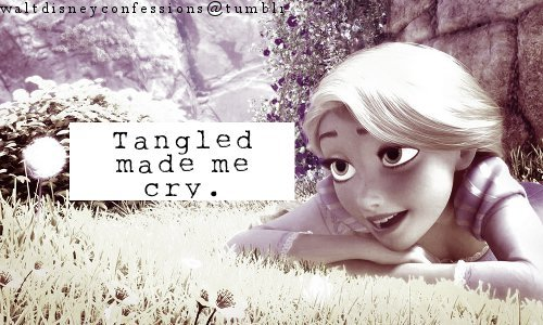"waltdisneyconfessions:  ""Tangled made me cry."""