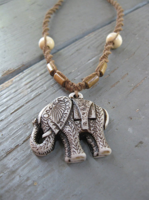 fuckyeahpsychedelics:  Tribal Elephant Necklace For sale here