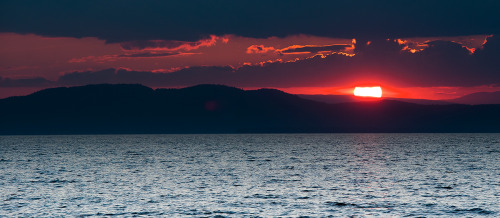 Lake Champlain at sunset. Last night.