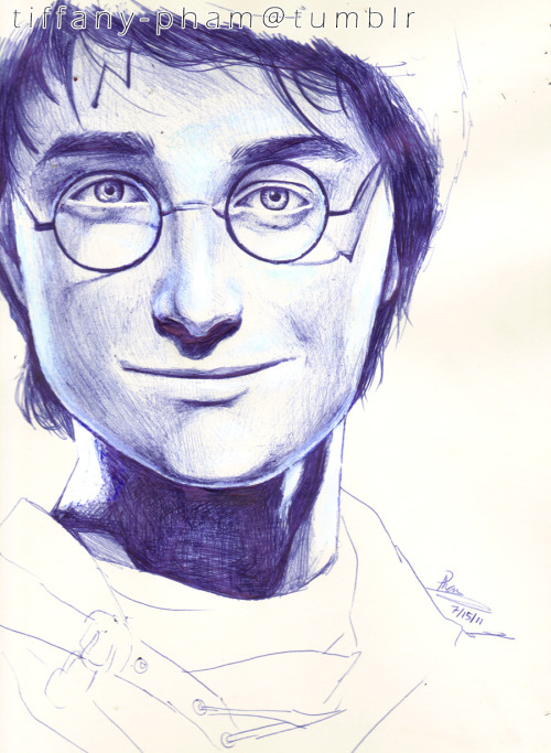Harry Potter, by Tiffany Pham, pen & arcylic