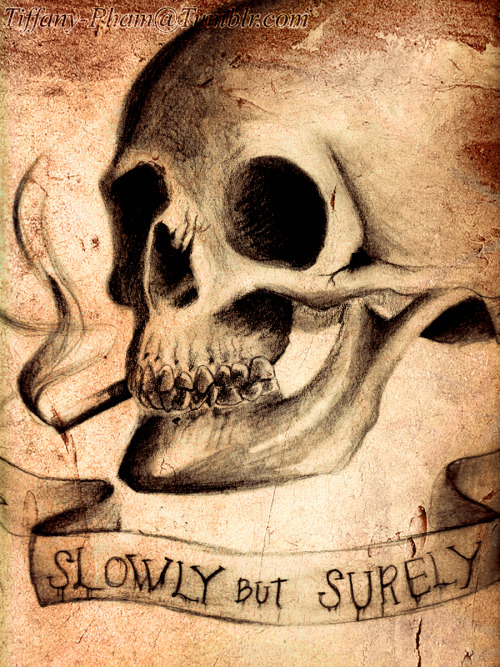 Slowly But Surely, by Tiffany Pham, pencil, Photoshop textures