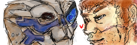 I am still in love with this haha it's garrus and my mshep eee