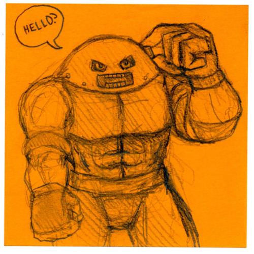 Post-It Juggernaut (with a cell phone)