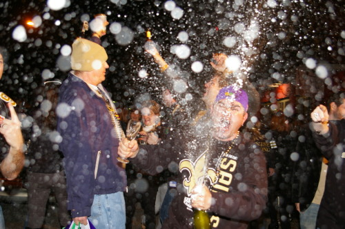 Flashback: The aftermath of Super Bowl XLIV Taken on Tchoupitoulas St. in New Orleans