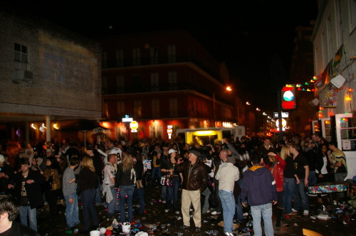 Flashback: The aftermath of Super Bowl XLIV Taken at outside Lucy's Retired Surfers Bar in New Orleans