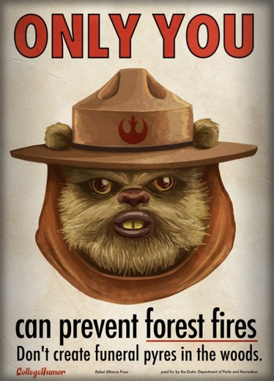 obscurestarwarsphotos:  Protect the forest planet of Endor!  I'm nearly in tears!!!