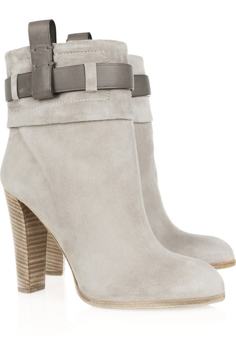 Reed KrakoffLeather trimmed suede ankle boots