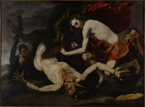 necspenecmetu:  Antonio de Bellis, Apollo Flaying Marsyas, c. 1637-40