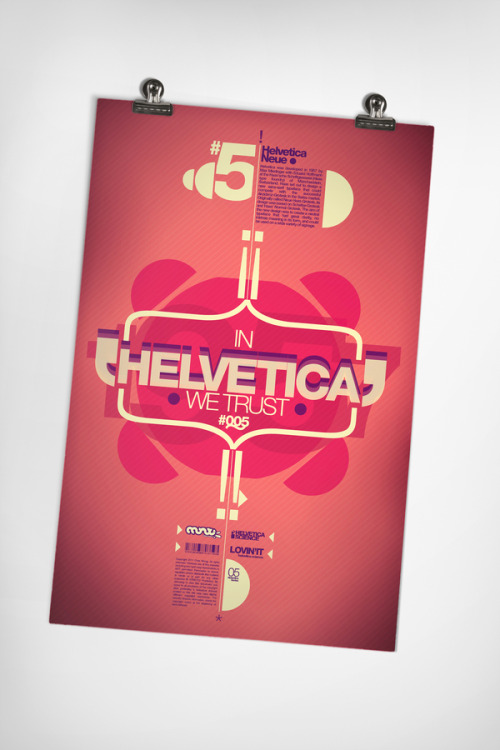 Poster design from the Helvetica Science Series by Chris W. More typography inspiration. posted byW.A.T.C. // Facebook // Twitter // Google+
