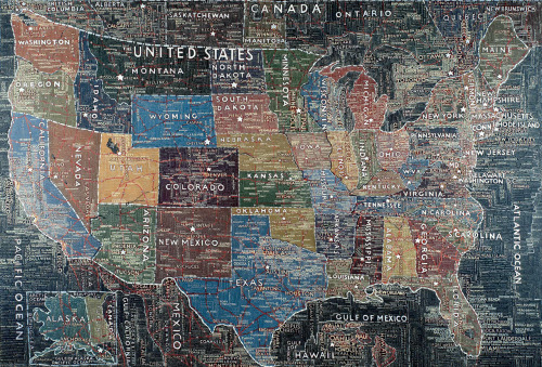 melisaki:  USA acrylic on canvas by Paula Scher, 2007