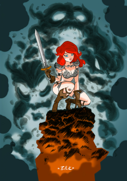 comicartappreciation:  Red Sonja // Dave Bullock