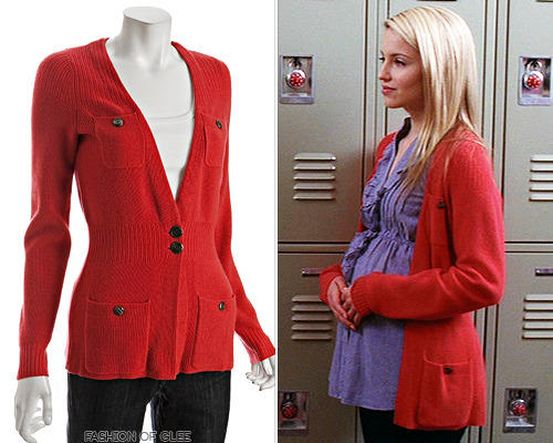 While looking for a cardigan for Kurt, of all people, I saw this cardigan - is it really? Could it truly be? Yes! A lovely cardigan worn by Quinn way back in Season 1 - and it's still available! Marc by Marc Jacobs Cashmere Military Cardigan - $179.00