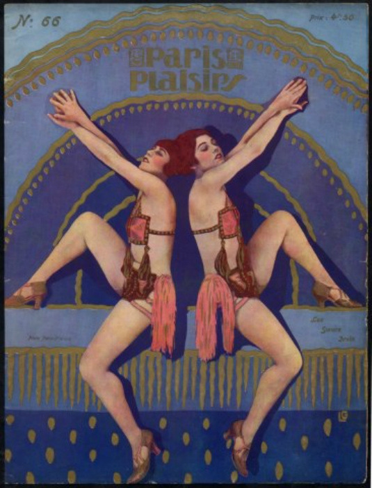 Paris Plaisirs 1927 Irvin Soeurs Sexy Dancers Music-Hall Costume