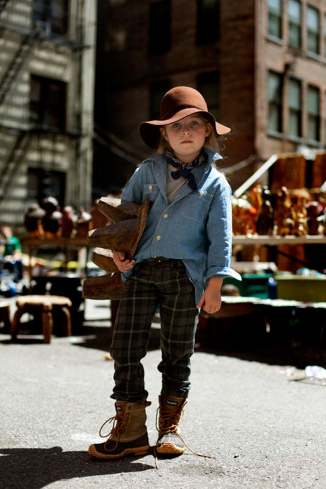 Hipster Toddler shops at the Brooklyn Flea Market.