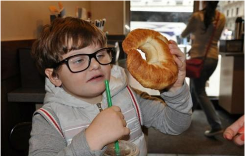 Hipster Toddler doesn't like Starbucks.