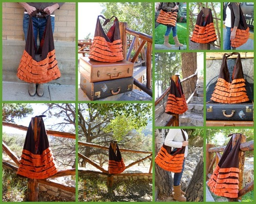 Pumpkin Patch Bag {How to} Found at:http://www.soyouthinkyourecrafty.com