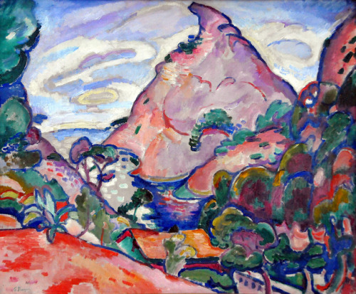 illmissnewwave:  Georges Braque - La Calanque-Temps gris, 1907 at Pinakothek der Moderne Munich Germany by mbell1975 on Flickr.