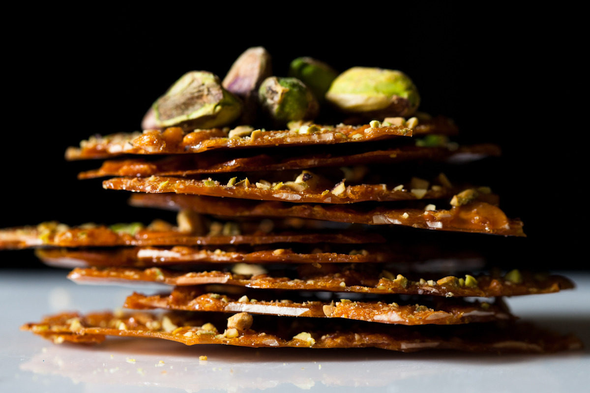 Almond and pistachio crackle, Foodease, August 2011.