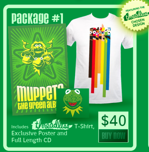 "purevolume:  Win the New Muppets Soundtrack! Liked that Alkaline Trio cover of the Muppets tune, didja? Well the full disc, brilliantly titled Muppets: The Green Album, has songs by Weezer & Paramore's Hayley Williams, OK Go, The Fray, My Morning Jacket, Andrew Bird and a bunch more. And we're giving it away (along with the other goodies pictured here) in tandem with our premiere of Alkaline Trio's version of ""Movin' Right Along."" Here's what you need to do: 1: Share Alkaline Trio's PureVolume profile on your personal Facebook page.2: Email a link to your post (or a screenshot) to contests@purevolume.com3: Brace yourself for potential Muppet schwag victory on Monday, Aug. 15 — contest runs through the weekend.  Do it, because look at that stuff."