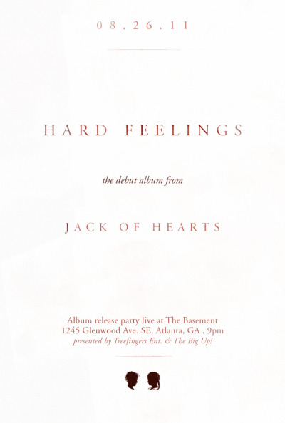Jack of Hearts  album release. More show info here. Download the tour poster here.