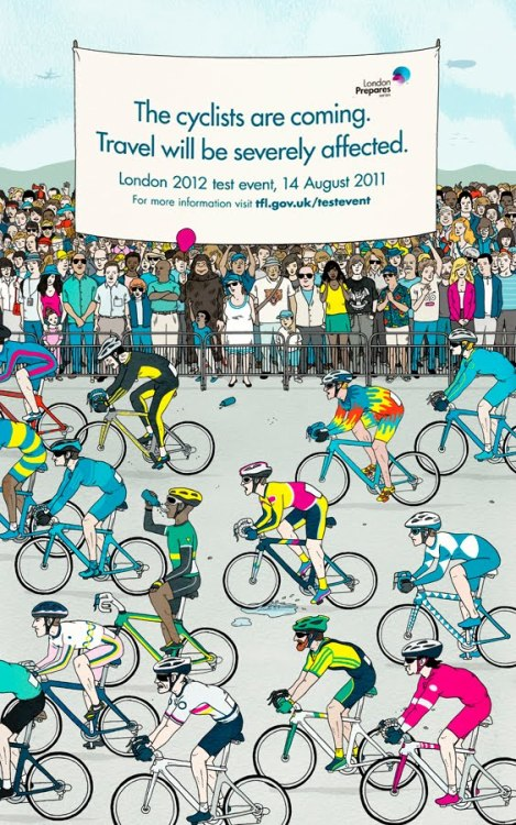 @drewrae's illustration for TFL and The Olympic Committee in anticipation of next year's Olympics in London. See more of Rae's illustrations here.