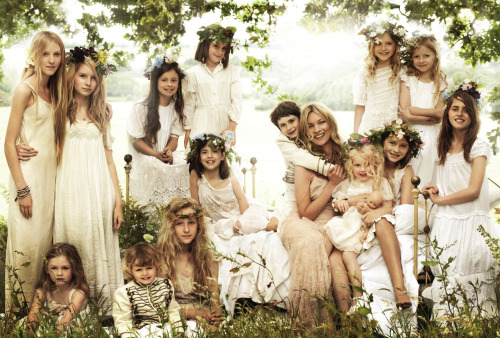 vogue:  Kate Moss and Her Wedding Party Photographed for the September Issue of Vogue by Mario Testino