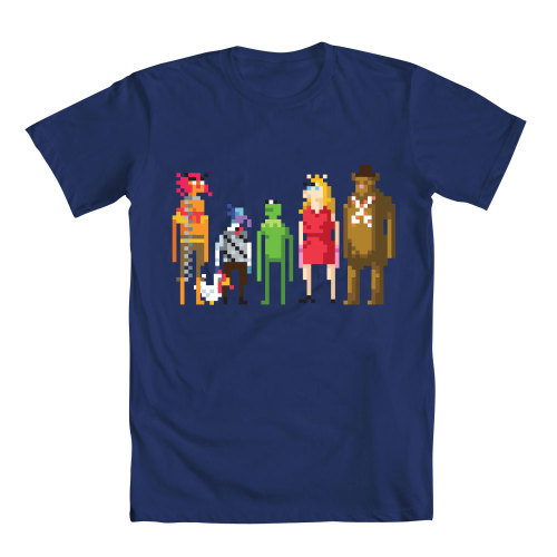 "It's the most sensational, inspirational, celebrational, 8-BIT-TATIONAL tee around! BUY ""Muppets 8-Bit"" NOW at welovefine.com!"