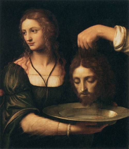 Bernardo Luini, Salome Receiving the Head of St. John the Baptist, c. 1510 Musee du Louvre, Paris