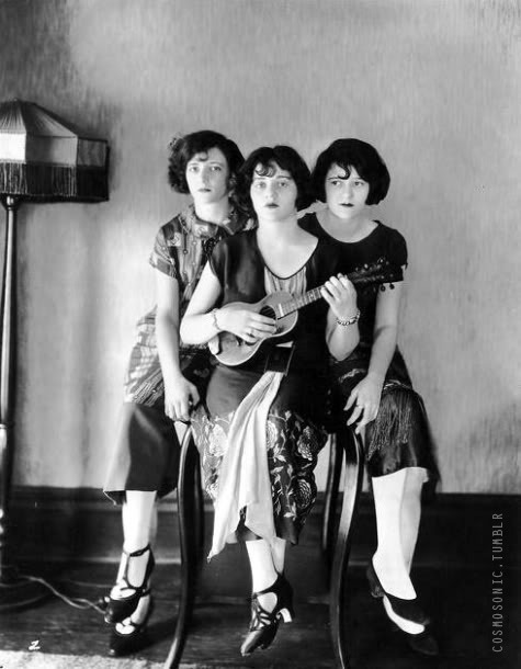 The Boswell Sisters, 1930s. Love their pretty dresses